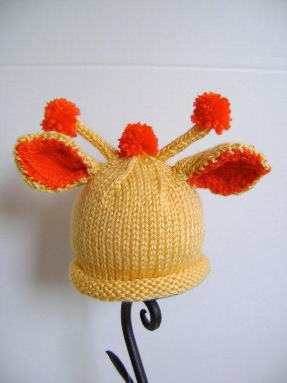 Giraffe Hat Pattern Newborn To Toddler Sizes Great Costume Etsy