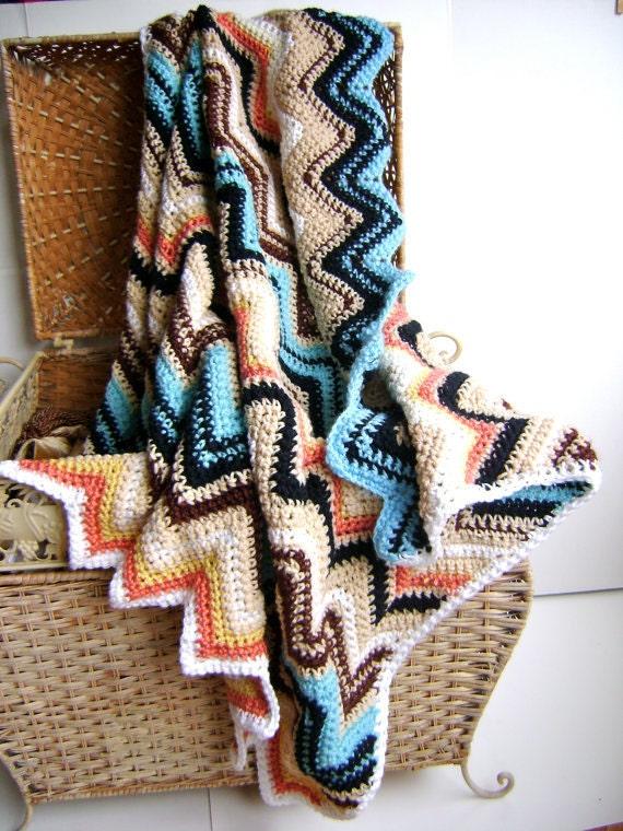 Crochet Pattern For Chevron Baby Blanket Easy Beginner Etsy