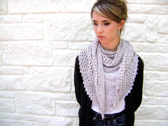 Triangle Shawl Or Scarf Pattern Easy Crochet Pattern For The Etsy