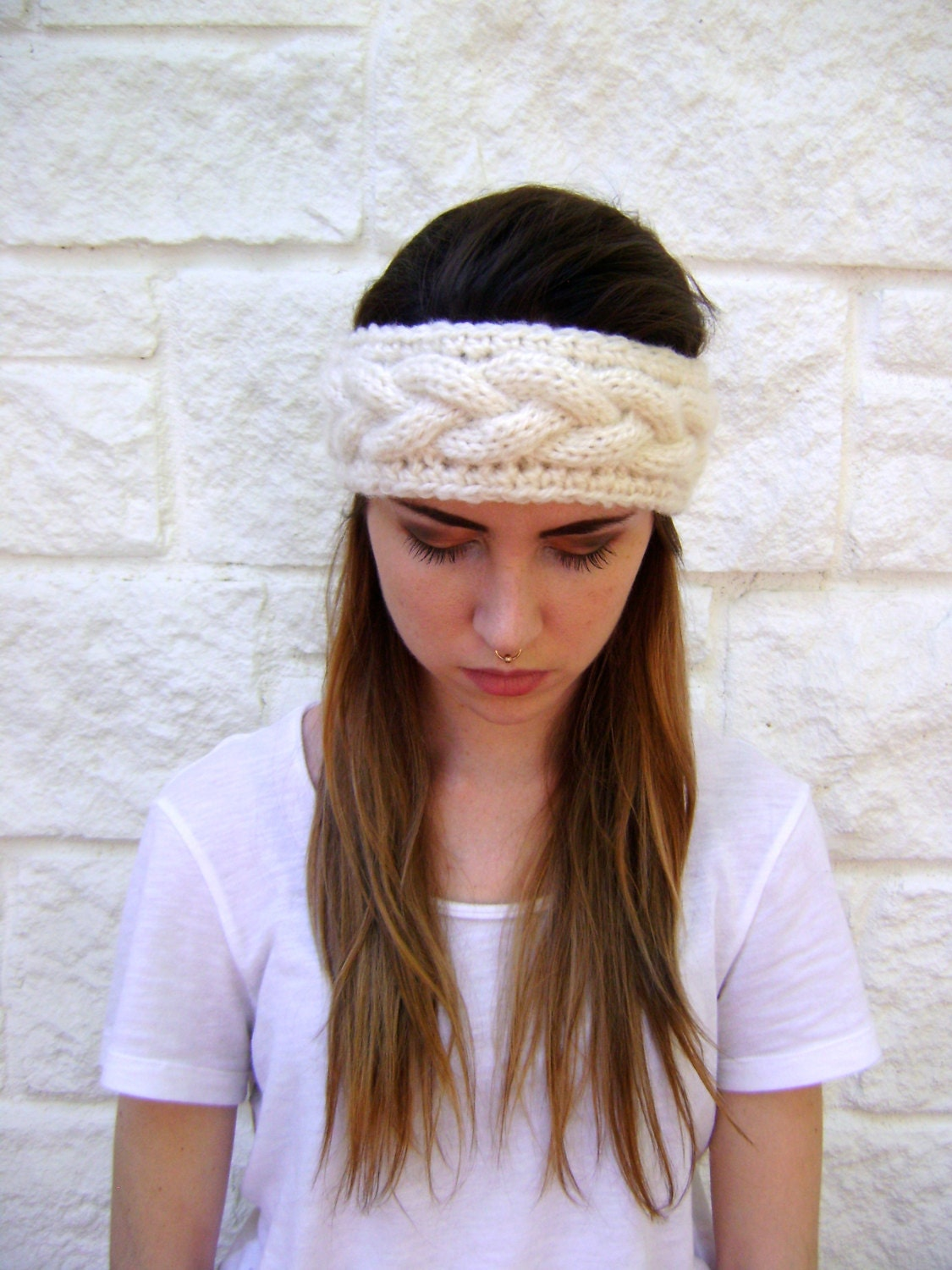 Exelent Easy Cable Knit Headband Pattern Illustration - Sewing ...