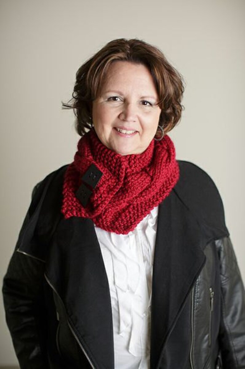 Classic Cabled Cowl PATTERN Knitted Cowl Pattern for the ...