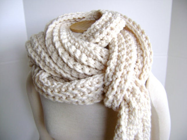 Crochet Scarf Pattern For Mile Long Scarf Cowl High End Look Etsy