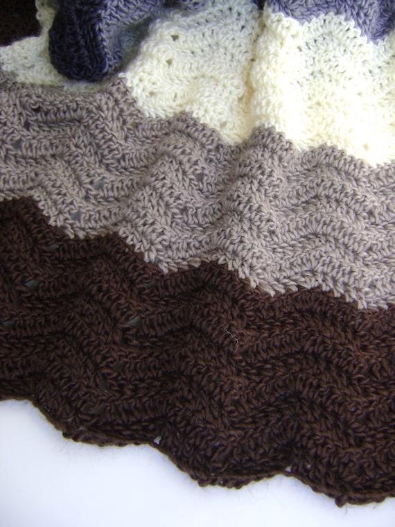 Crochet Baby Blanket Pattern For Earth Thunder Easy For Etsy
