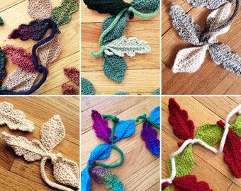 Oak Leaves Garland - Knitting PATTERN - Great for the Advanced Beginner or Better