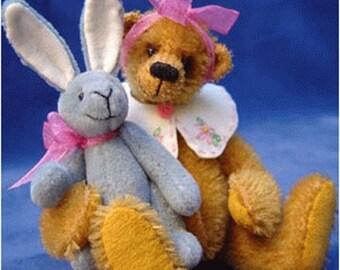 Jemina Bear & Blue Rabbit PDF pattern only