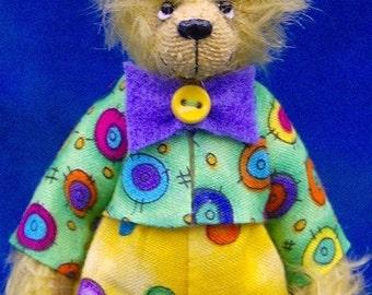 Buttons the Clown Teddy Bear E-pattern