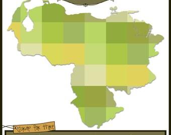 Photo Map Template: Venezuela