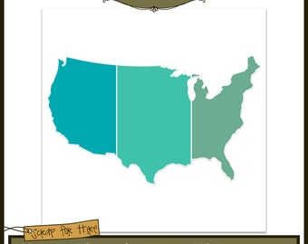 Scenic Map Template: USA