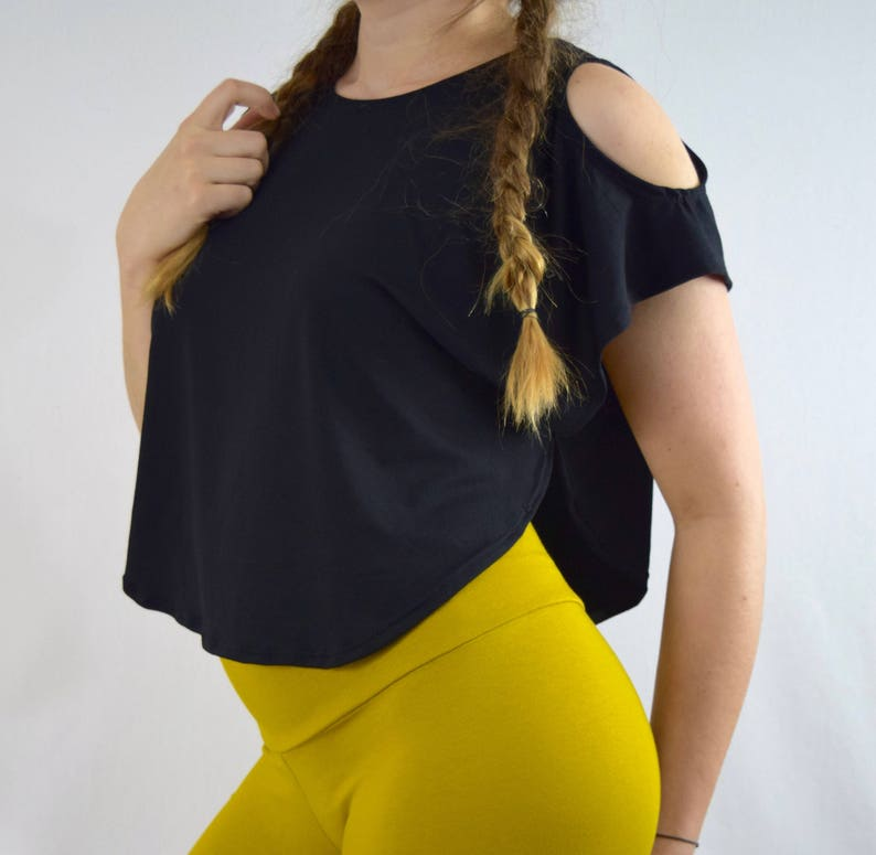 6e44338771153 Women s Loose Fitted Crop Top Oversized Shirt Open
