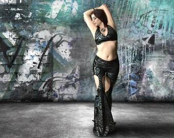 0dc53c466c55 Belly Dance costume, Tribal fusion costume, Tribal Fusion pants, Flare  pants, Halter top, Garter pants, Leg cuffs, Tribal set- MODERN FUSION