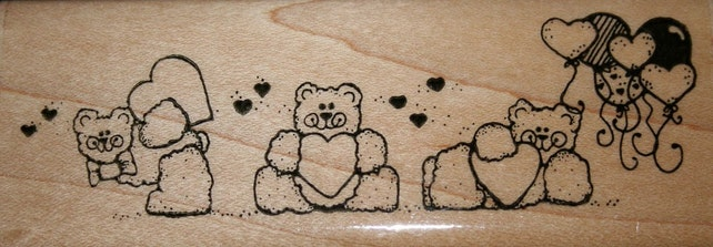 Bears My Heart Rubber Stamp from D.O.T.S.