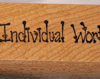 Individual Worth Rubber Stamp from Creative Stamps