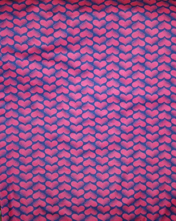 handmade standard size Homemade Flannel Purple Hearts Pillowcase