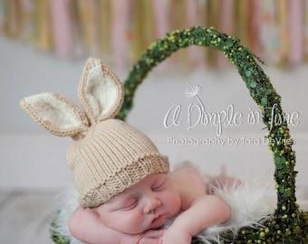 1651c88dea3 Baby Bunny Hat Newborn Knit Hat