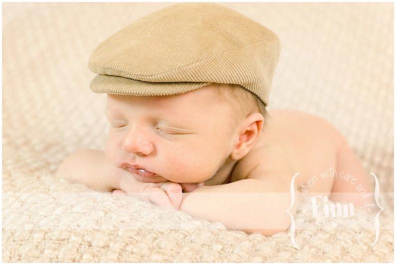 9bf7e924 Newsboy Baby Flat Cap Newborn Infant Photo Prop Vintage | Etsy