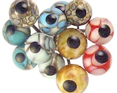 Handmade Glass Eyes on Wires Assortment of Specials (12 eyes)
