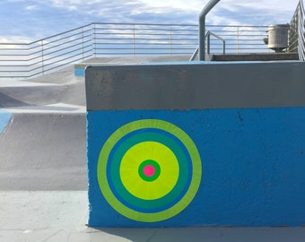 giclee print - street art photo - bondi beach skate park - portals of hope
