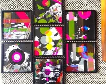 Cloud Cuckoo Land 80's Inspired Mini Cloud Collages Framed
