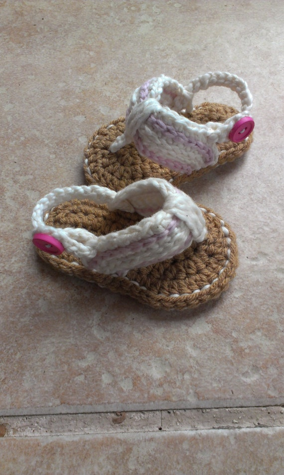 ed9b82777702ca Baby sandals Baby Flip Flops newborn flip flops crochet