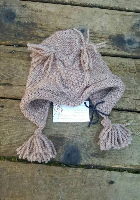 Knit Owl Hat Owl Hat Owl Bonnet Childs Owl Hat Babies Etsy