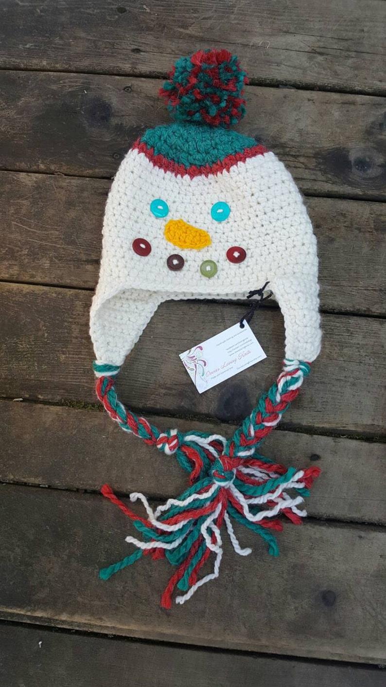 dfece16e4d323 Snowman hat snowman ear flapper snowman face hat