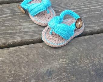 Baby sandals, Baby Flip Flops, newborn flip flops, crochet sandals, crochet flip flops, crochet baby sandals, 0-6 Months and 6-12 Months