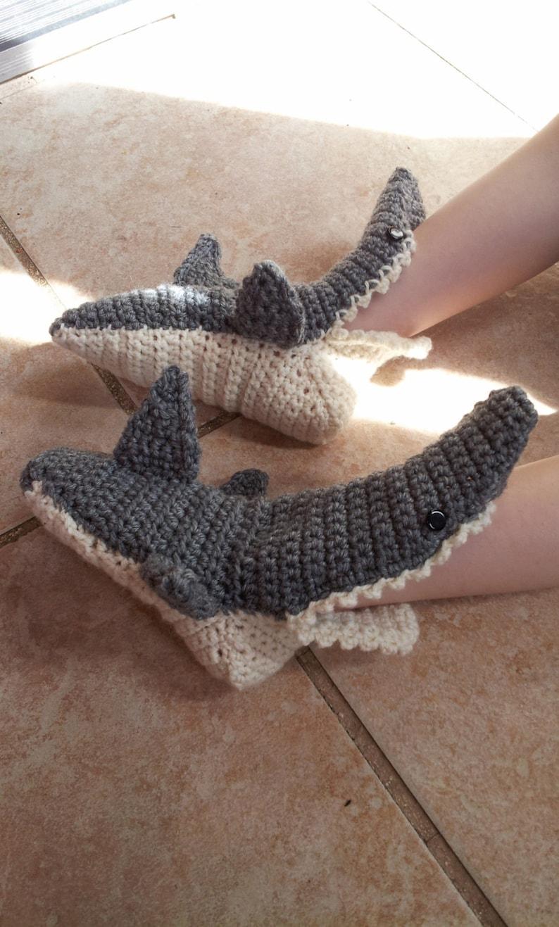 Baby shark slippers crochet shark slippers kids shark  d60673ee8d