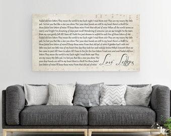 Song Lyrics Canvas, Song Lyrics Wall Art, First Dance Song, Song Lyrics On Canvas, Personalized Canvas, Custom Lyric Canvas