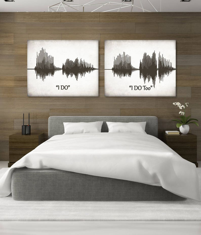 Sound Wave Art, Personalized Voice Art, I DO Voice Wave Canvas, Custom  Sound Wave Print, Voice Print On Canvas