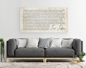10 Year Anniversary, 10th Anniversary Gift, Gift For Him, Gift For Her, Custom First Dance Print, First Dance Canvas