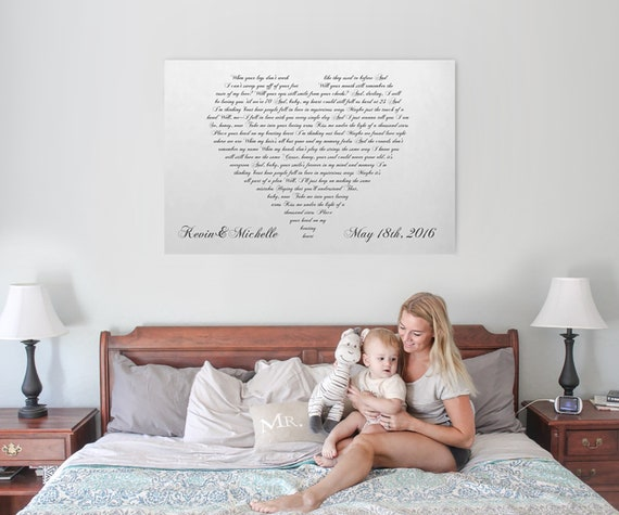 First Dance Lyrics On Canvas