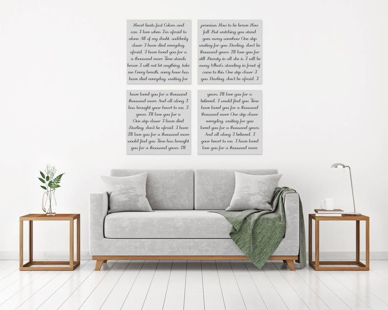 First Dance Lyrics Canvas, First Dance Song, First Dance Print, Custom  Canvas, First Dance Frame, Wedding Song Lyrics