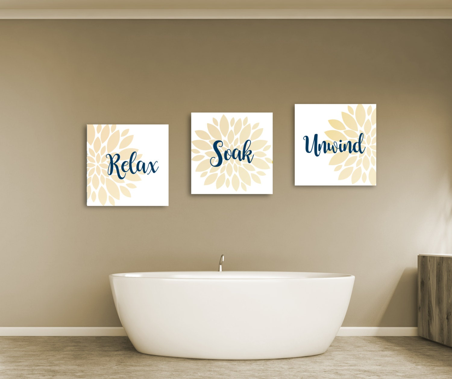 Bathroom Decor Bathroom Wall Art Relax Soak And Unwind