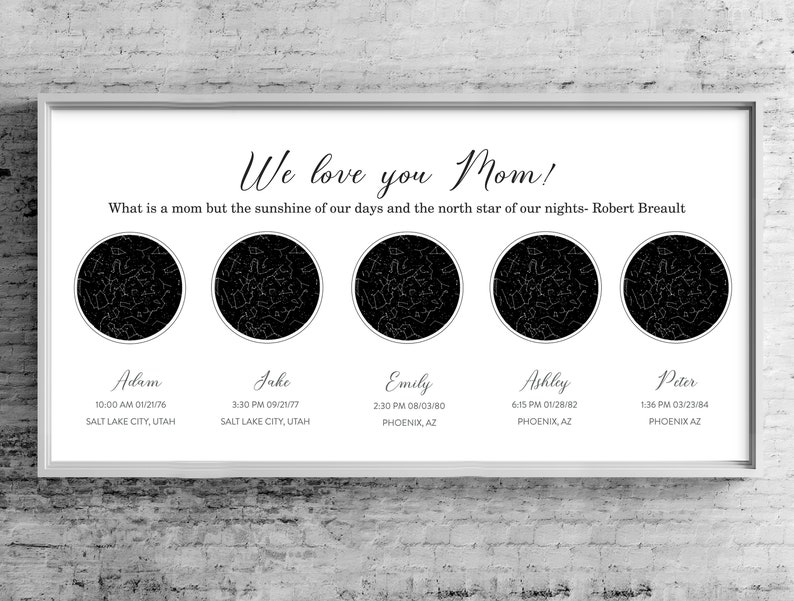 What Is A Star Map.5 Location Custom Star Map Kids Coordinates Star Maps Our Etsy