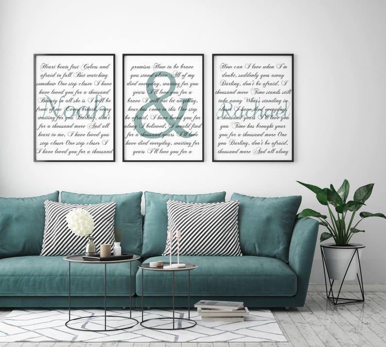 Marvelous Living Room Decor Home Decor Art Custom First Dance Lyrics | Etsy