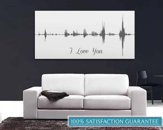 5e Anniversaire Cadeau Voix Vague Impression I Love You Etsy