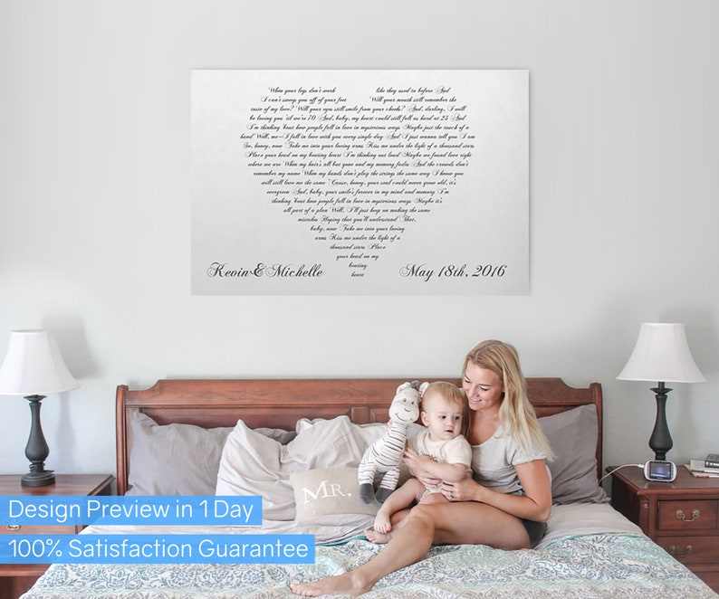 First Dance Lyrics On Canvas Your Wedding Song On Canvas image 0