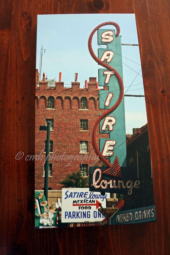 Historic Retro Neon Sign Satire Lounge Denver Colorado 12 Etsy