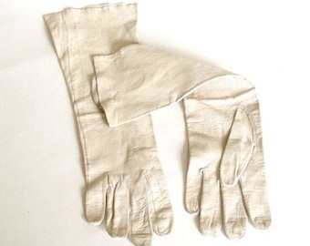 Vintage Kid Leather Gloves from Germany