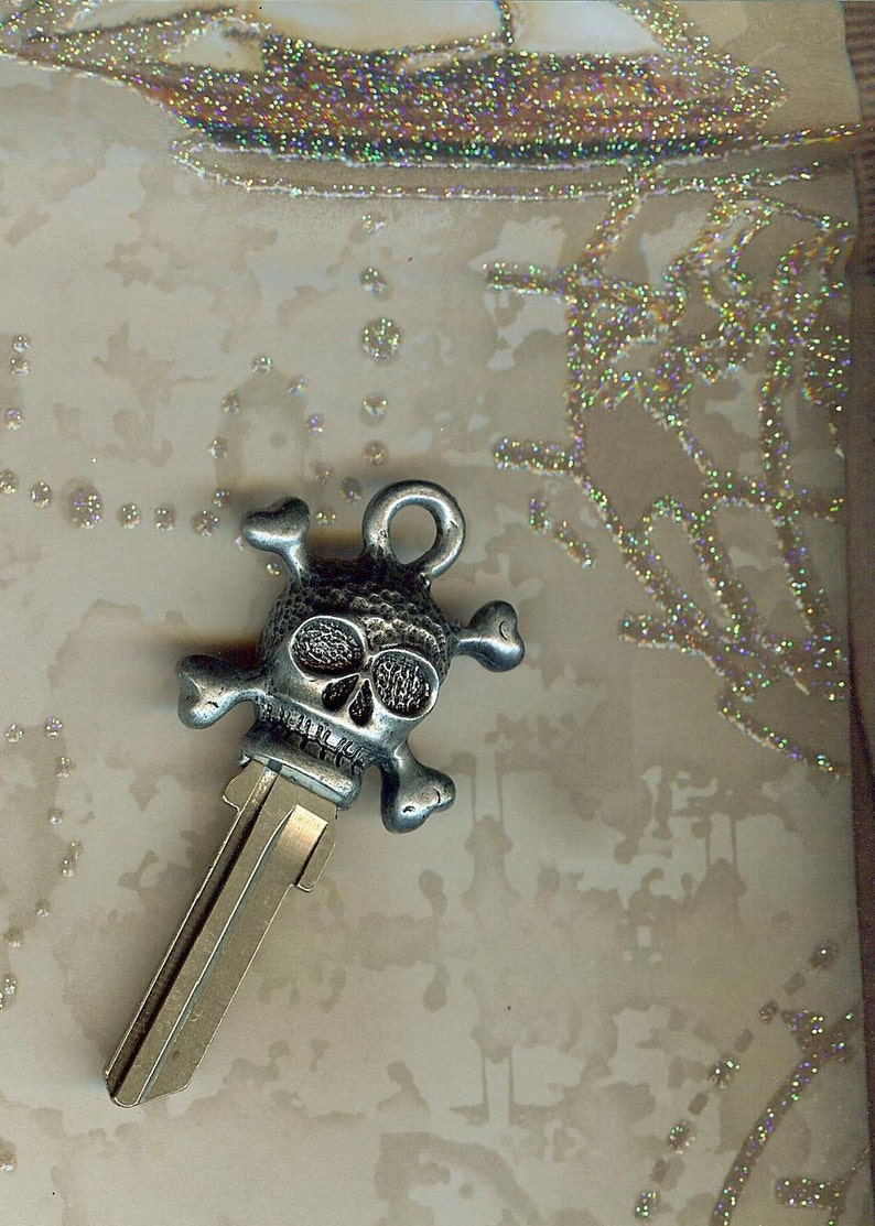 skeleton key...skull and crossbones key blank image 0