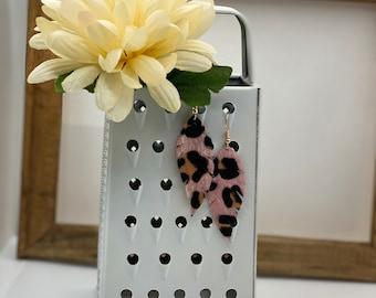 Pink  Leopard Earring