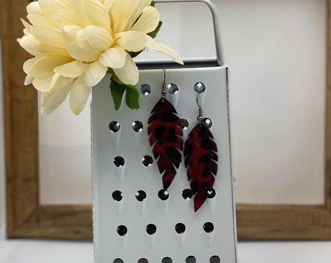 Red Leopard Earring