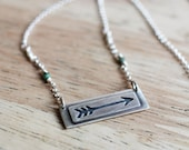 In Stock - Reversible Moving Forward Arrow Necklace - BE LIGHT and Stay WILD boho jewelry boho fashion arrow jewelry arrow necklace