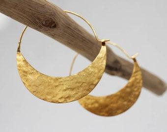 Gold Luna Big Hoop Earrings - 18k Gold Vermeil Statement Hoop Earrings