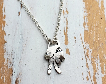 Peace Sign Necklace - Peace Necklace - Sterling Silver Peace Sign Jewelry - Peace Jewelry Peace Symbol