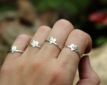 4 Bridesmaid Gift Rings - Personalized Initials