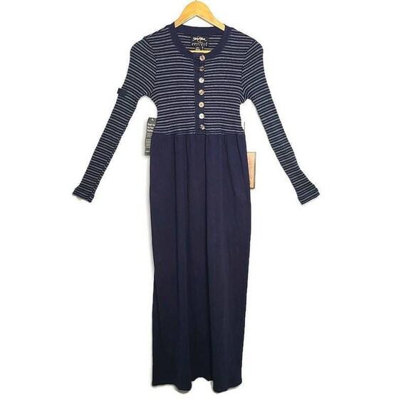 1990s Carole Little Cotton Vintage Maxi Dress