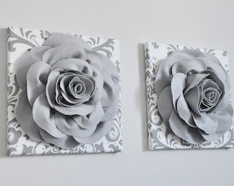 home decor wall art aqua and gray flower damask wall etsy rh etsy com grey bedroom sets argos grey bedroom sets uk