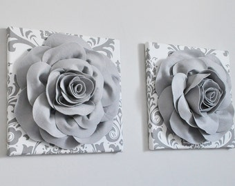 home decor wall art aqua and gray flower damask wall etsy rh etsy com grey bedroom set for sale grey bedroom sets uk