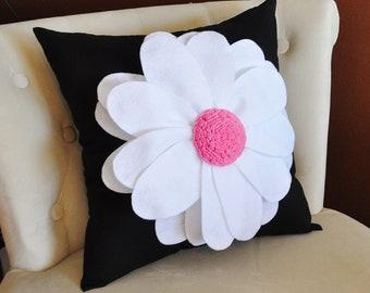 Daisy Felt Flower On Brown Pillow New Bedbuggs Design Pick
